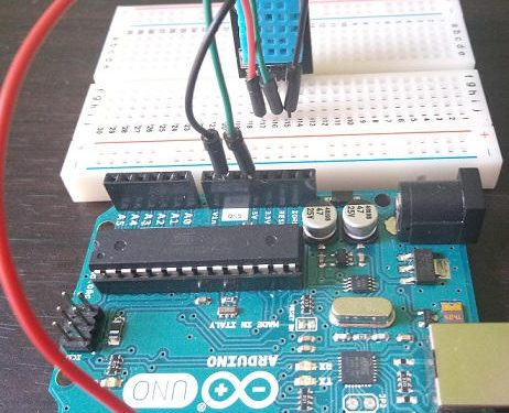 Measurement of temperature and humidity with Arduino and the DHT11 sensor